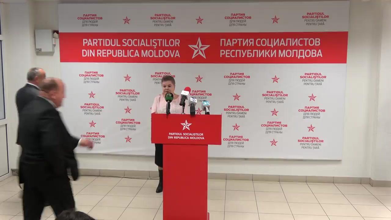 """Conferință de presă susținută de către fracțiunea parlamentară a PSRM cu tema """"Rezultatele activității fracțiunii PSRM în parlament"""""""