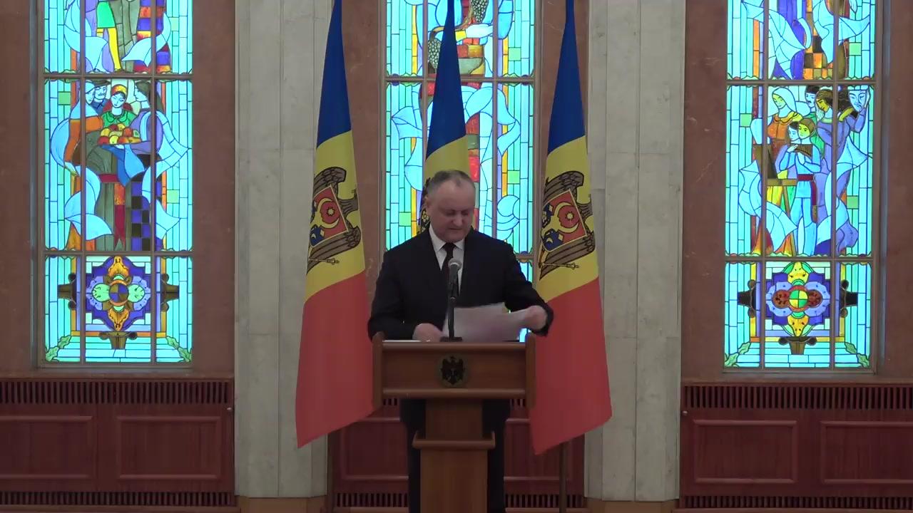 Briefing de presă susținut de Președintele Republicii Moldova, Igor Dodon