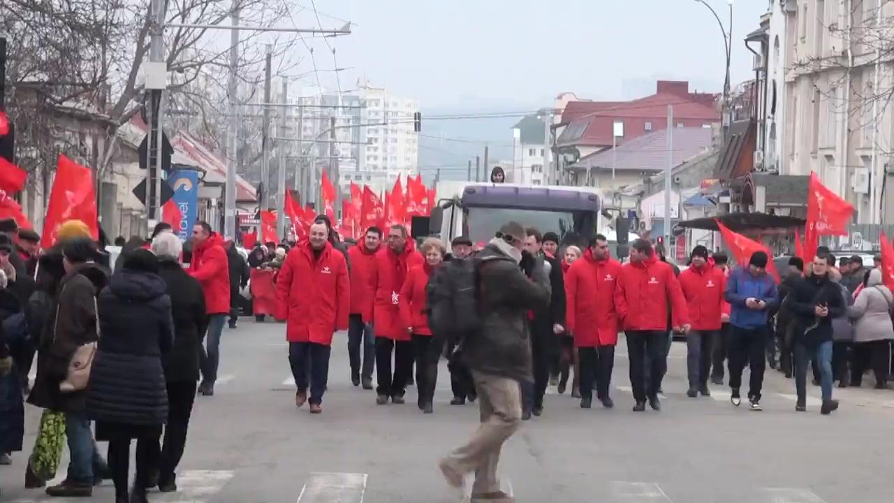 Mitingul de protest organizat de Partidul Socialiștilor din Republica Moldova