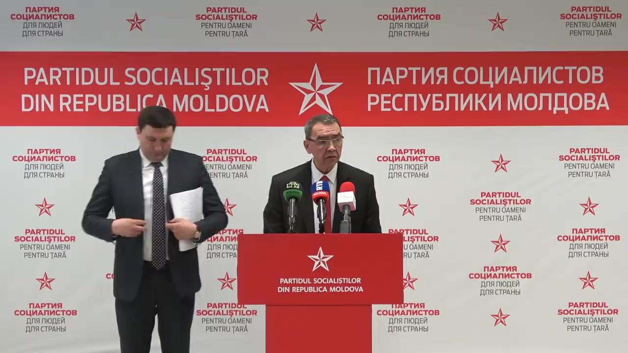 """Conferința de presă susținută de Partidul Socialiștilor din Republica Moldova cu tema """"Genocidul social"""""""