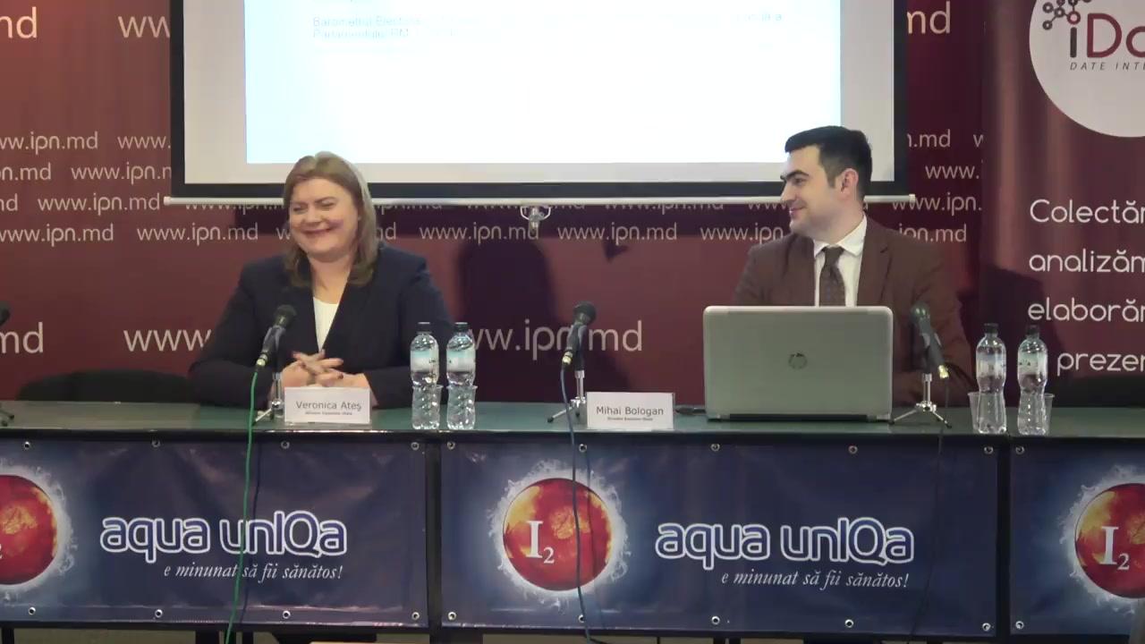 """Conferința de presă organizată de Compania Date Inteligente SRL (iData) cu tema """"Rezultatele sondajului socio-politic-2 și Barometrul Electoral 2019, ediția a 11-a"""""""