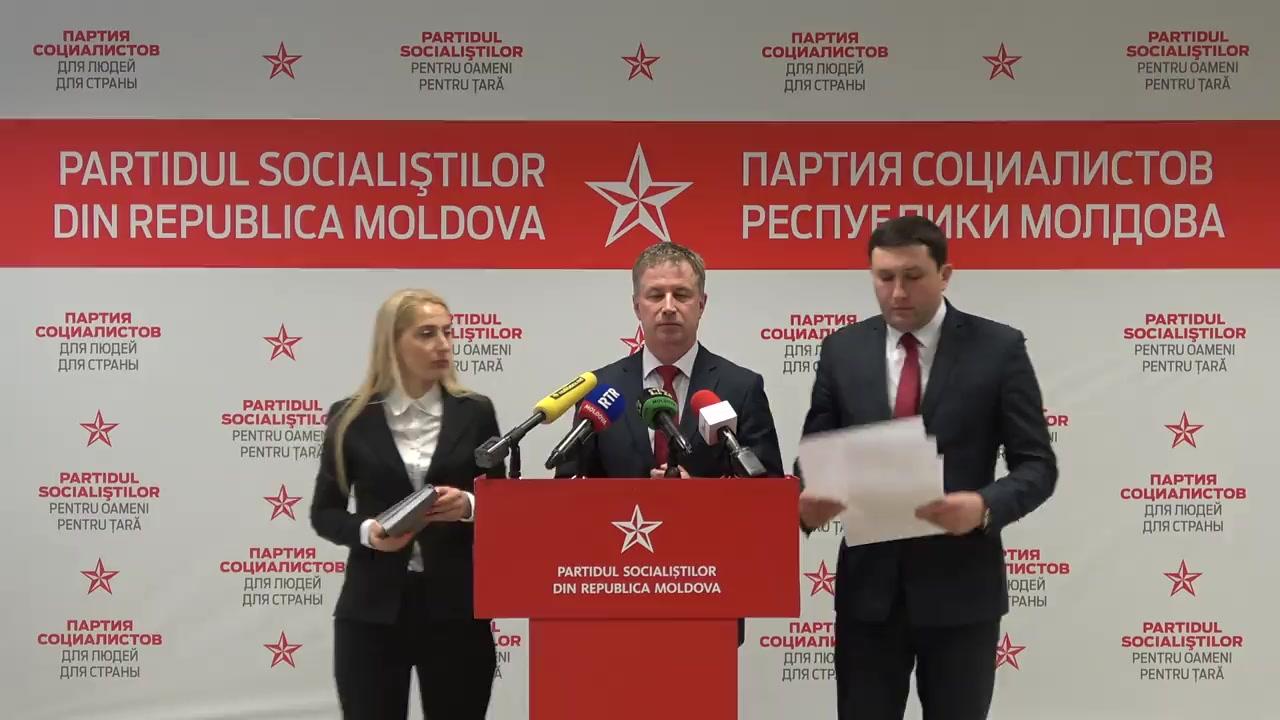 """Conferința de presă susținută de Partidul Socialiștilor din Republica Moldova cu tema """"Degradarea învățământului moldovenesc"""""""