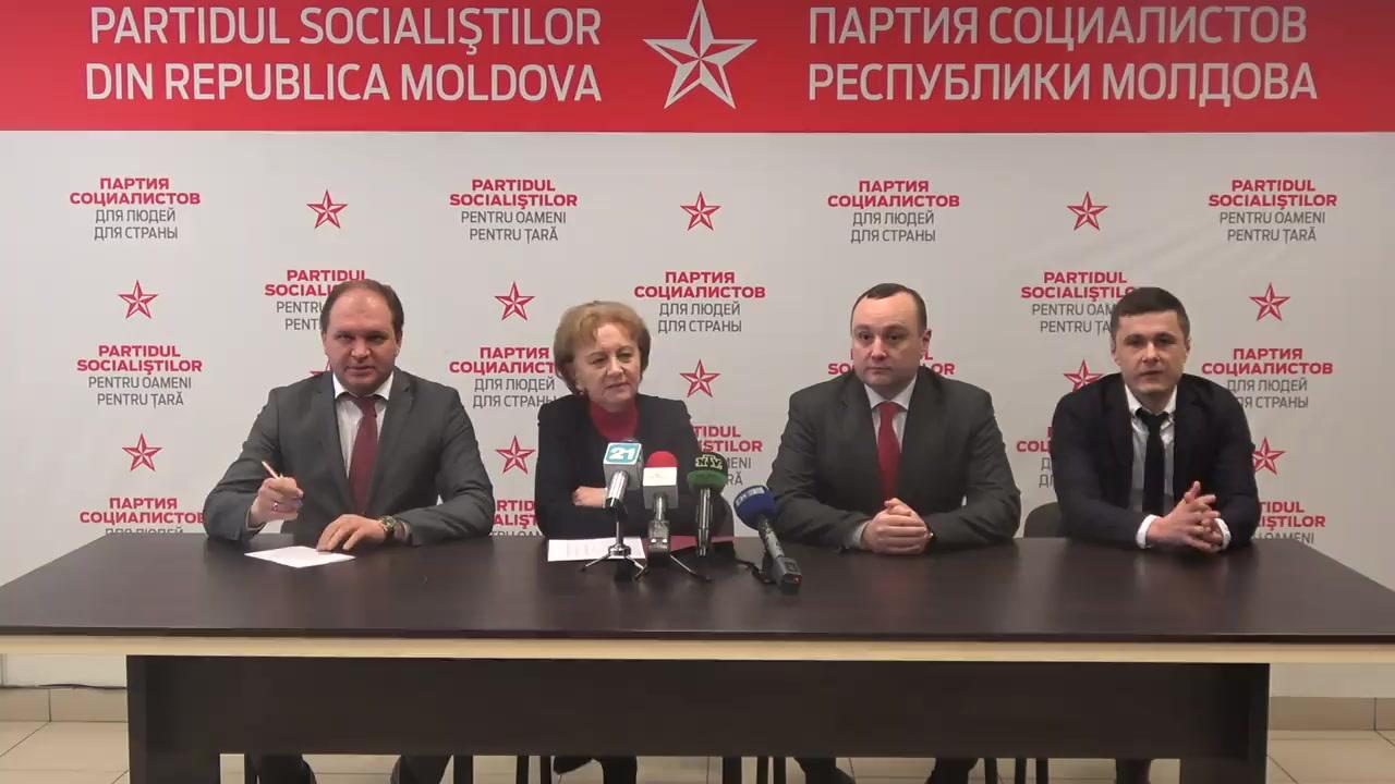 """Conferința de presă susținută de Partidul Socialiștilor din Republica Moldova cu tema """"Despre desfășurarea campaniei electorale"""""""