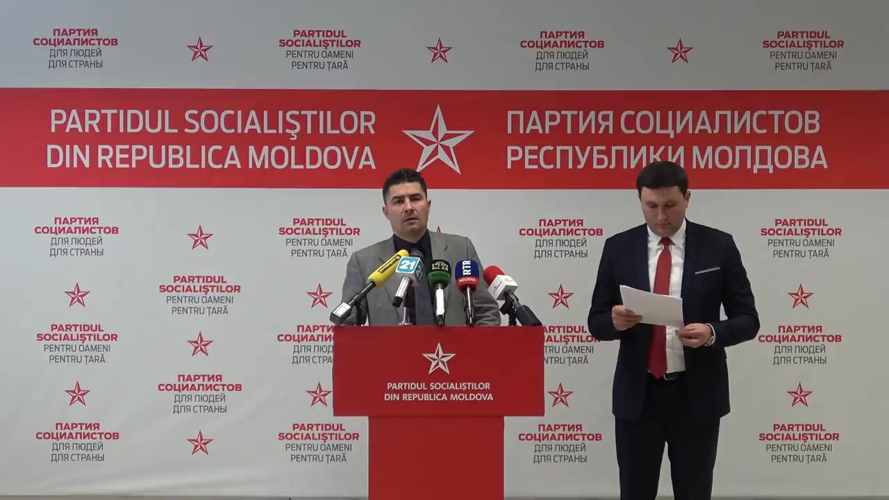 """Conferința de presă susținută de Partidul Socialiștilor din Republica Moldova cu tema """"Degradarea sistemului medical: cum să restartăm medicina din Republica Moldova"""""""