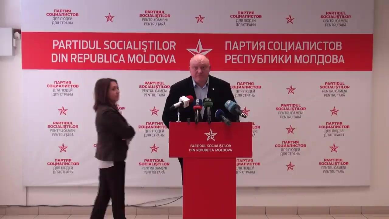 """Conferința de presă susținută de Partidul Socialiștilor din Republica Moldova cu tema """"Dezvoltarea culturii, a științei și a sportului, ca o alternativă a degradării și haosului"""""""