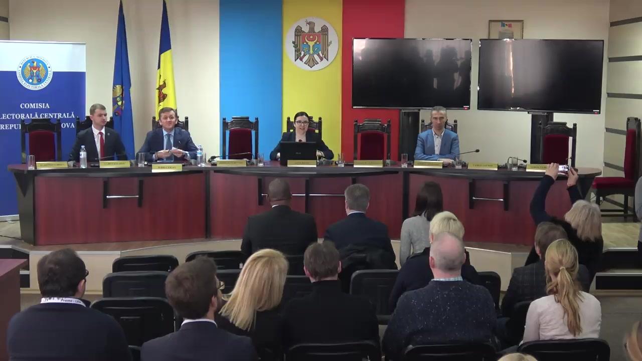 Prezentarea rezultatelor preliminare privind desfășurarea alegerilor parlamentare și a referendumului republican consultativ din 24 februarie 2019