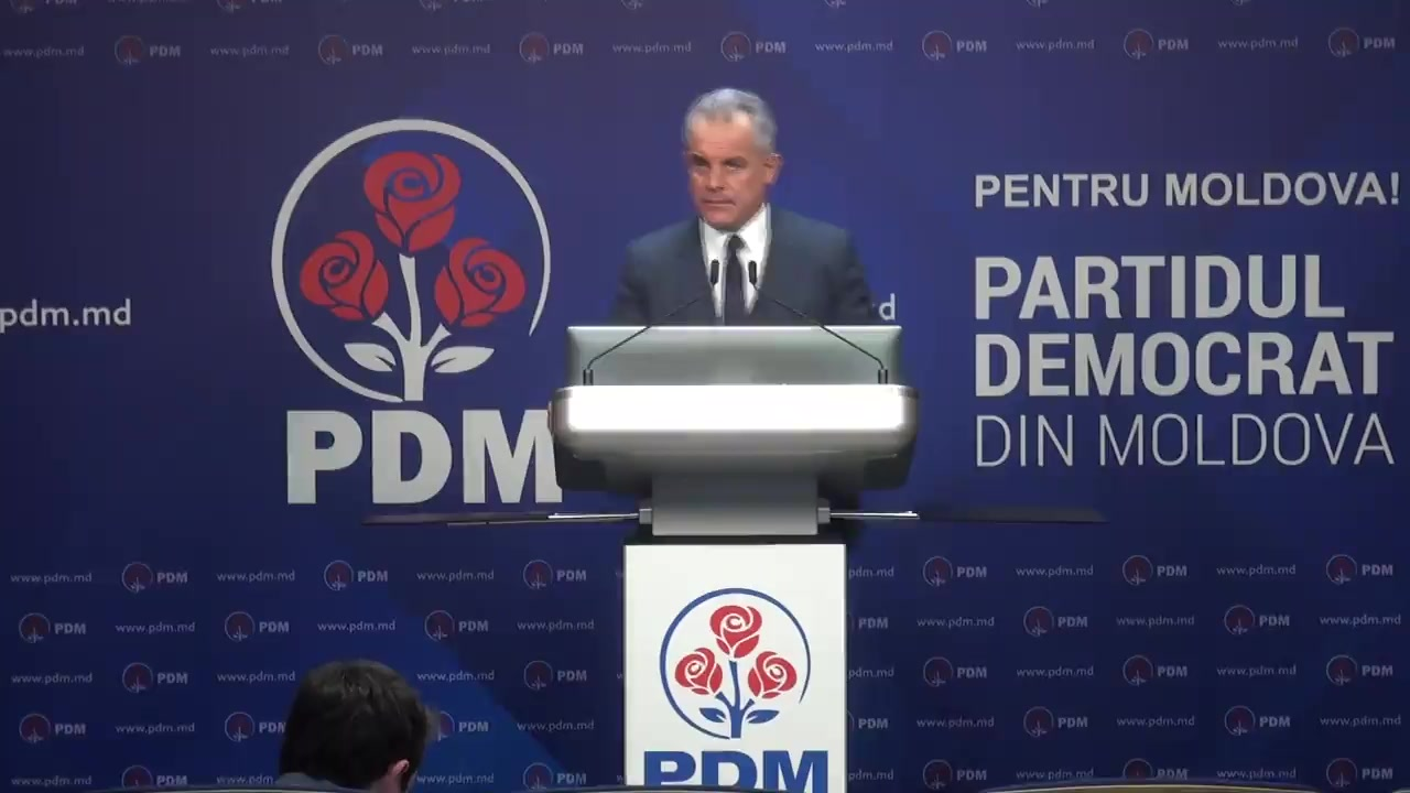 Briefing de presă organizat de Partidul Democrat din Moldova