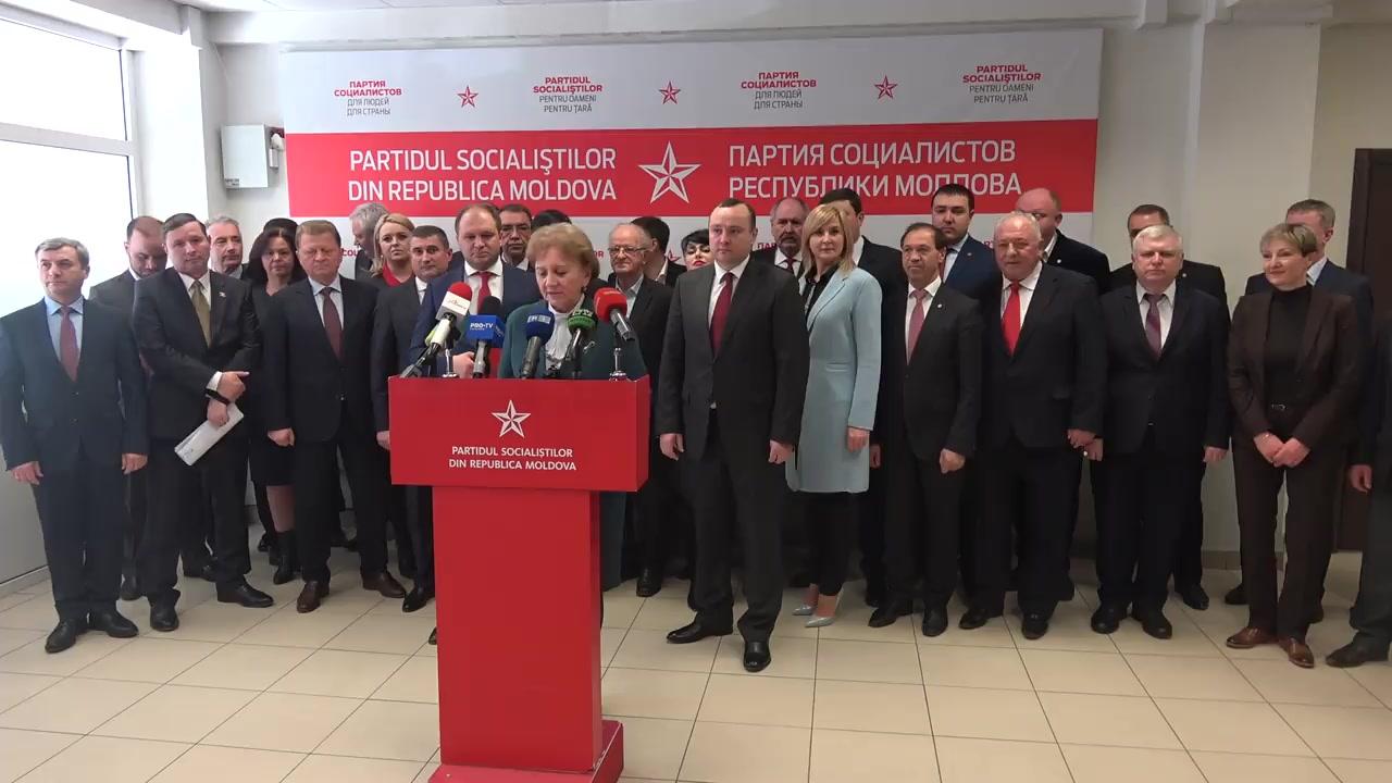 Briefing susținut de deputații Partidului Socialiștilor din Republica Moldova nou aleși