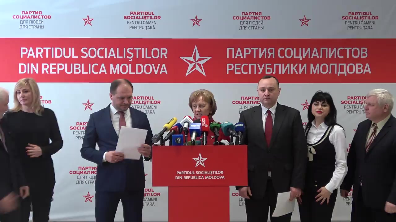 Briefing susținut de președintele Partidului Socialiștilor din Republica Moldova, Zinaida Greceanîi
