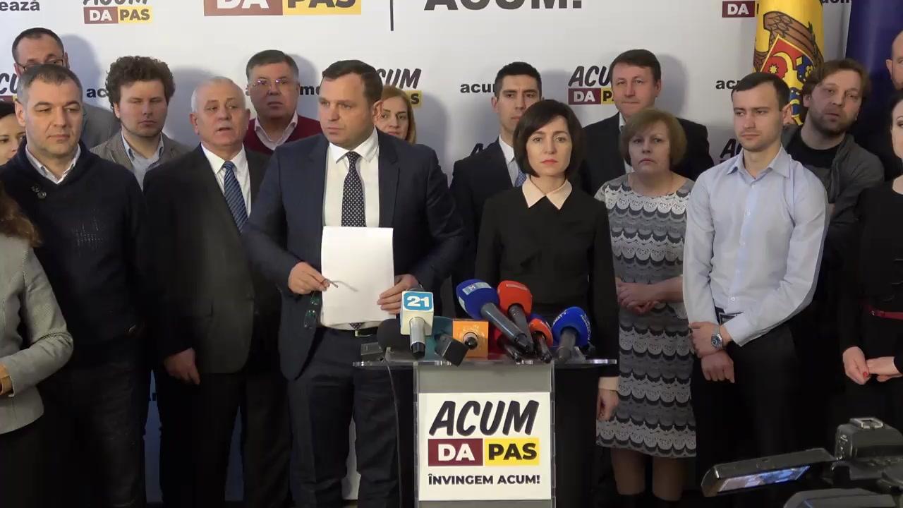 Conferință de presă susținută de blocul ACUM