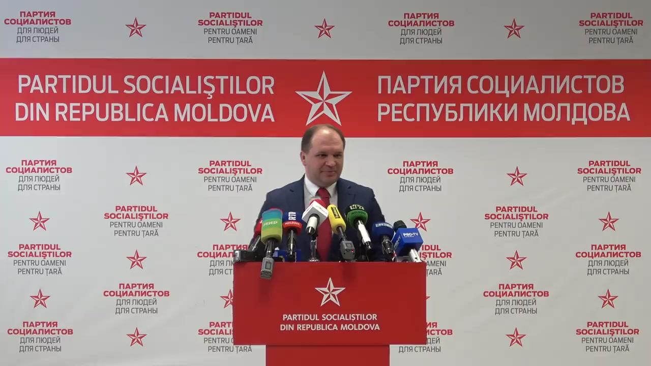 Briefing susținut de Partidul Socialiștilor din Republica Moldova