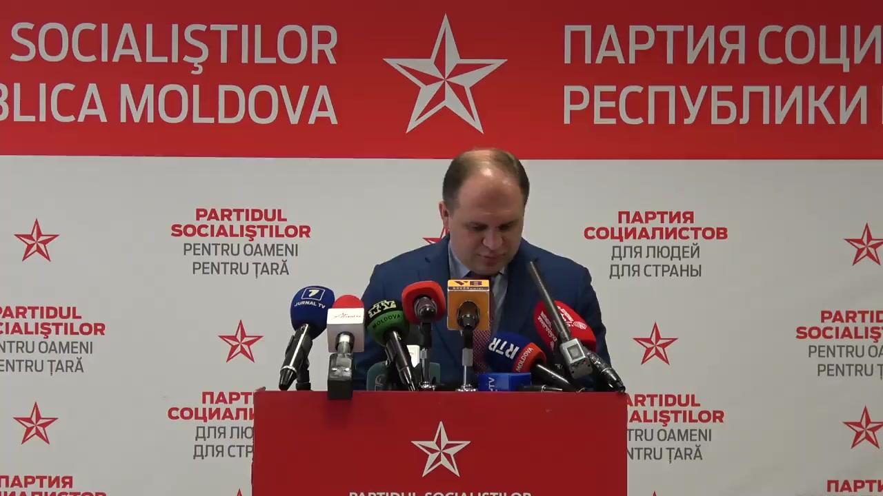 Briefing de presă privind acțiunile ulterioare ale Partidului Socialiștilor din Republica Moldova