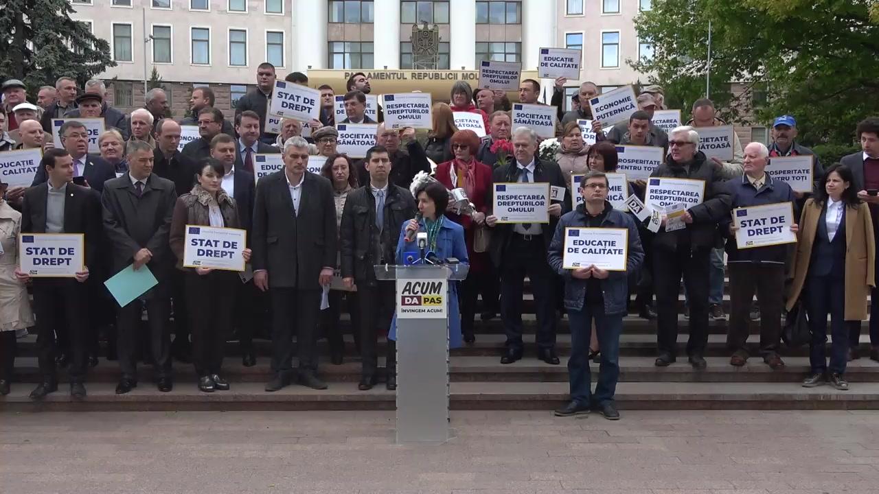 Manifestație organizată de Blocul Politic ACUM prilejuită Zilei Europei