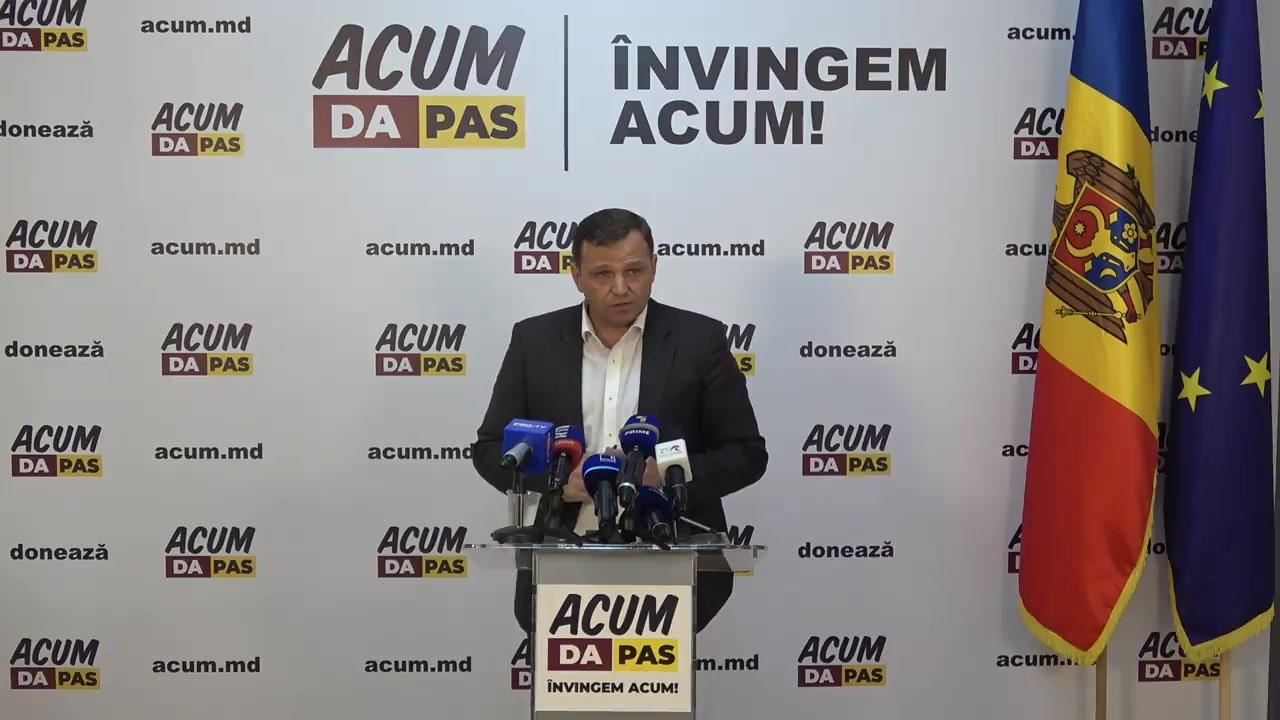 Conferință de presă susținută de președintele Platformei DA, copreședinte al Blocului ACUM, primarul ales al municipiului Chișinău, Andrei Năstase