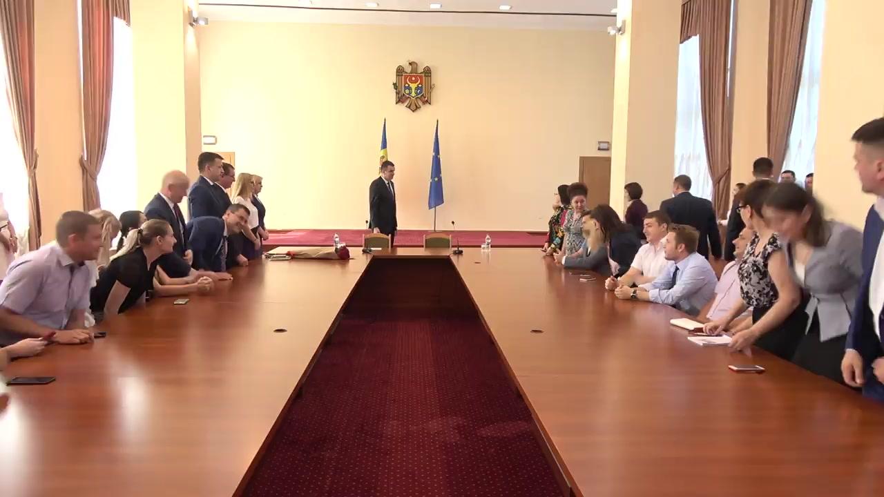 Prezentarea noului ministru al Economiei și Infrastructurii, Vadim Brânzan