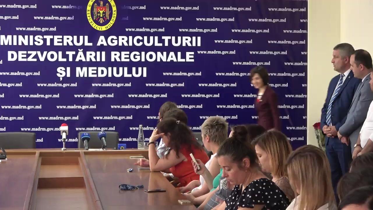Prezentarea noului ministru al Agriculturii, Dezvoltării Regionale și Mediului, Georgeta Mincu
