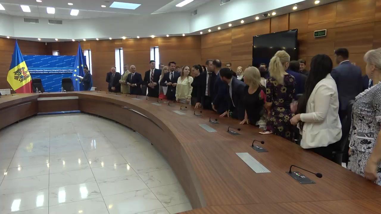 Prezentarea noului ministru al Afacerilor Externe și Integrării Europene, Nicolae Popescu