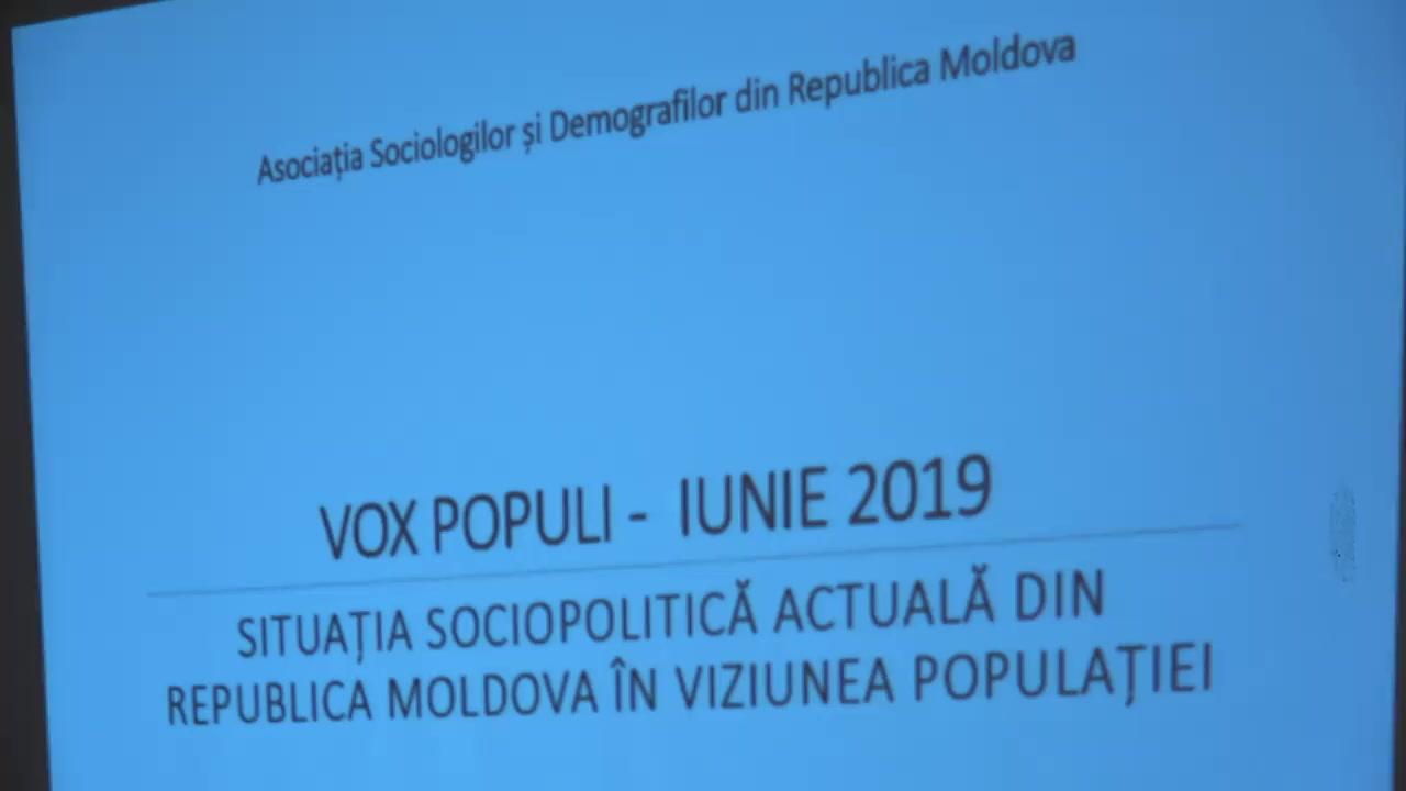 """Conferință de presă organizată de Asociația Sociologilor și Demografilor din Republica Moldova cu tema """"Rezultatele studiului sociologic: Situația socio-politică actuală din Republica Moldova în viziunea populației"""""""