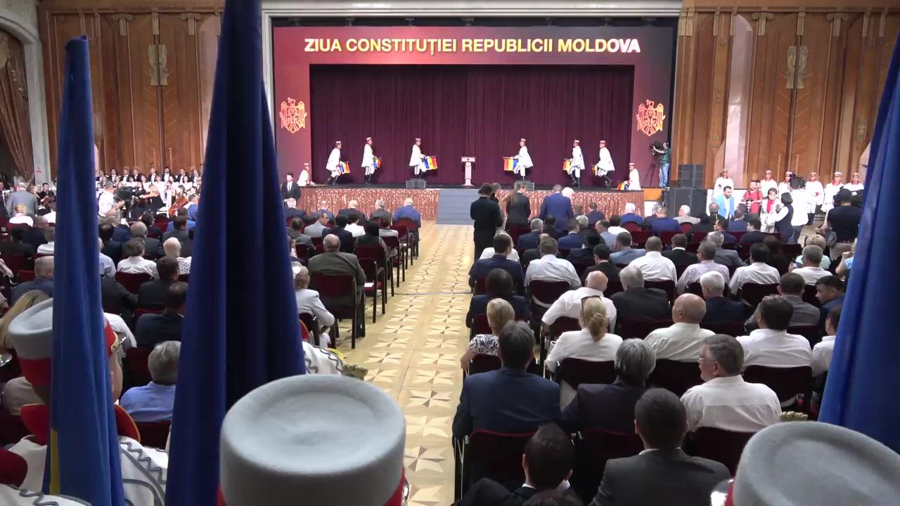 Ceremonia consacrată aniversării a 25-a a adoptării Constituției Republicii Moldova