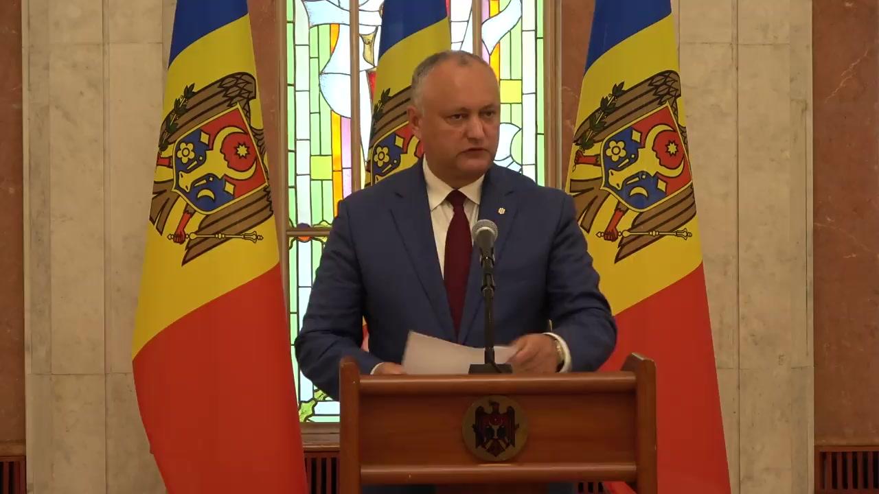 Declarațiile Președintelui Republicii Moldova, Igor Dodon, după ședința Consiliului Suprem de Securitate din 14 august 2019