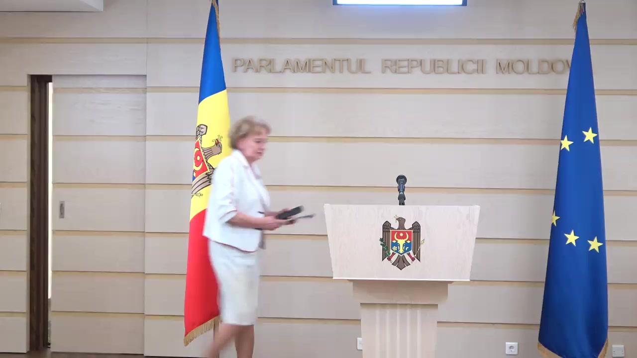 Declarație de presă susținută de Președintele Parlamentului Republicii Moldova, Zinaida Greceanîi
