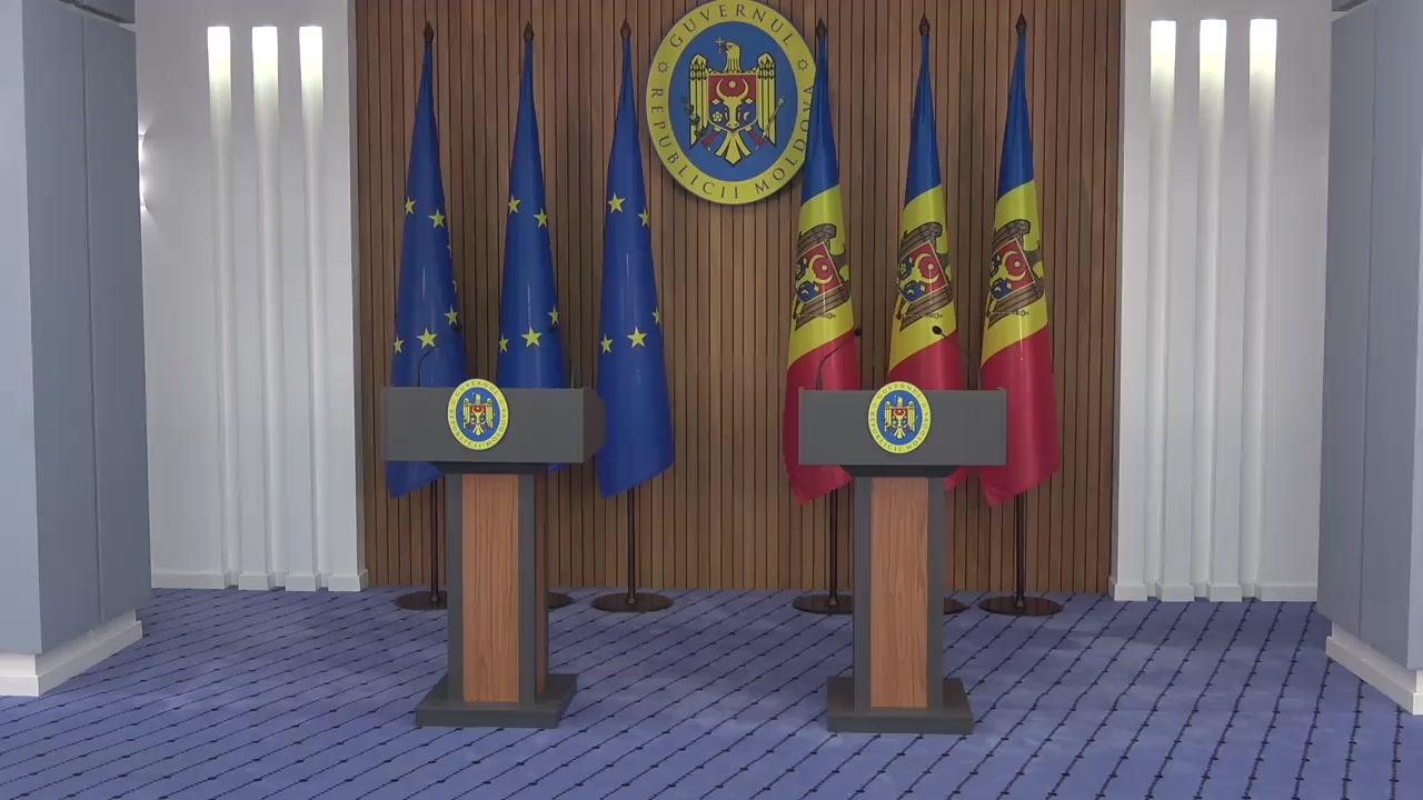 Conferință de presă susținută de Prim-ministrul Republicii Moldova, Maia Sandu, și Președintelui Partidului Popular European, Joseph Daul