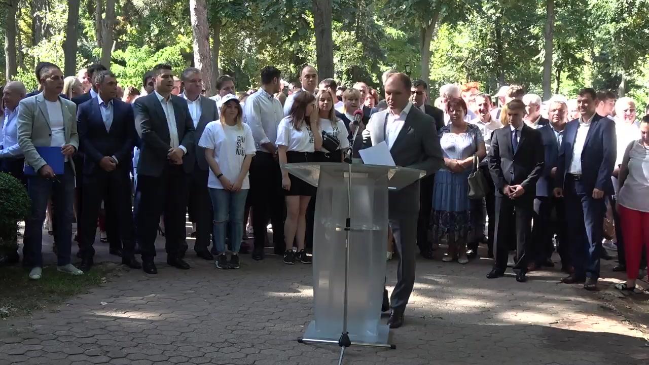 Lansarea candidatului PSRM, Ion Ceban, în campania electorală pentru funcția de primar general al municipiului Chișinău