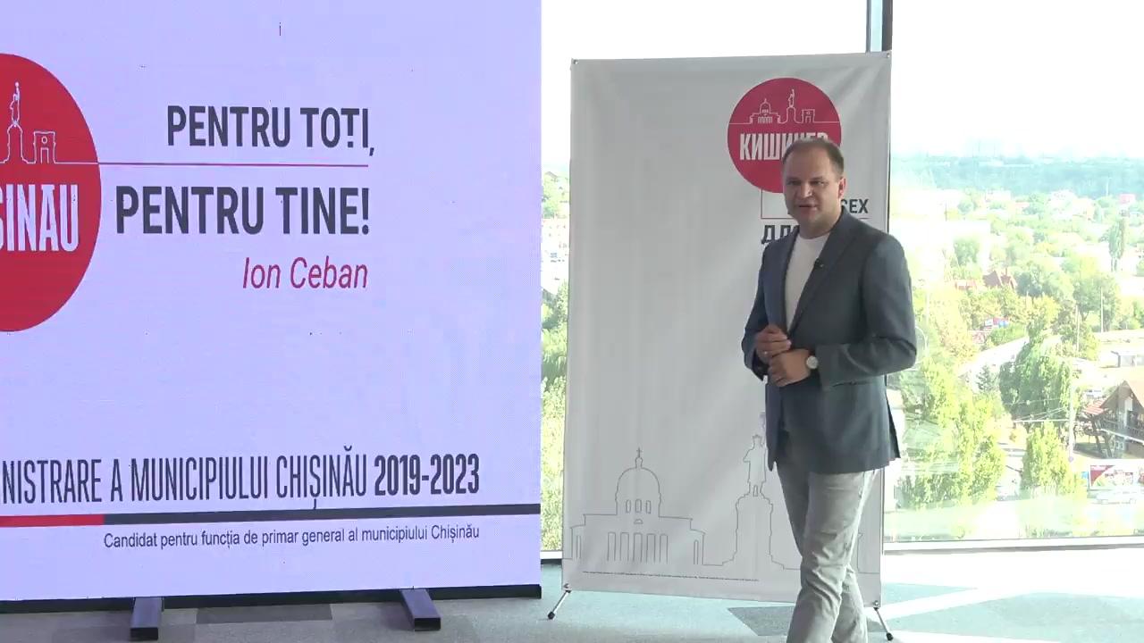 Prezentarea programului electoral de către Ion Ceban, candidat pentru funcția de primar al municipiului Chișinău
