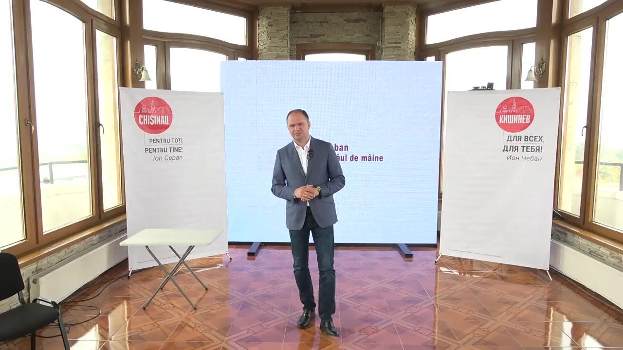 """Conferință de presă susținută de candidatul Ion Ceban cu tema """"Servicii moderne de alimentare a persoanelor nevoiașe"""""""