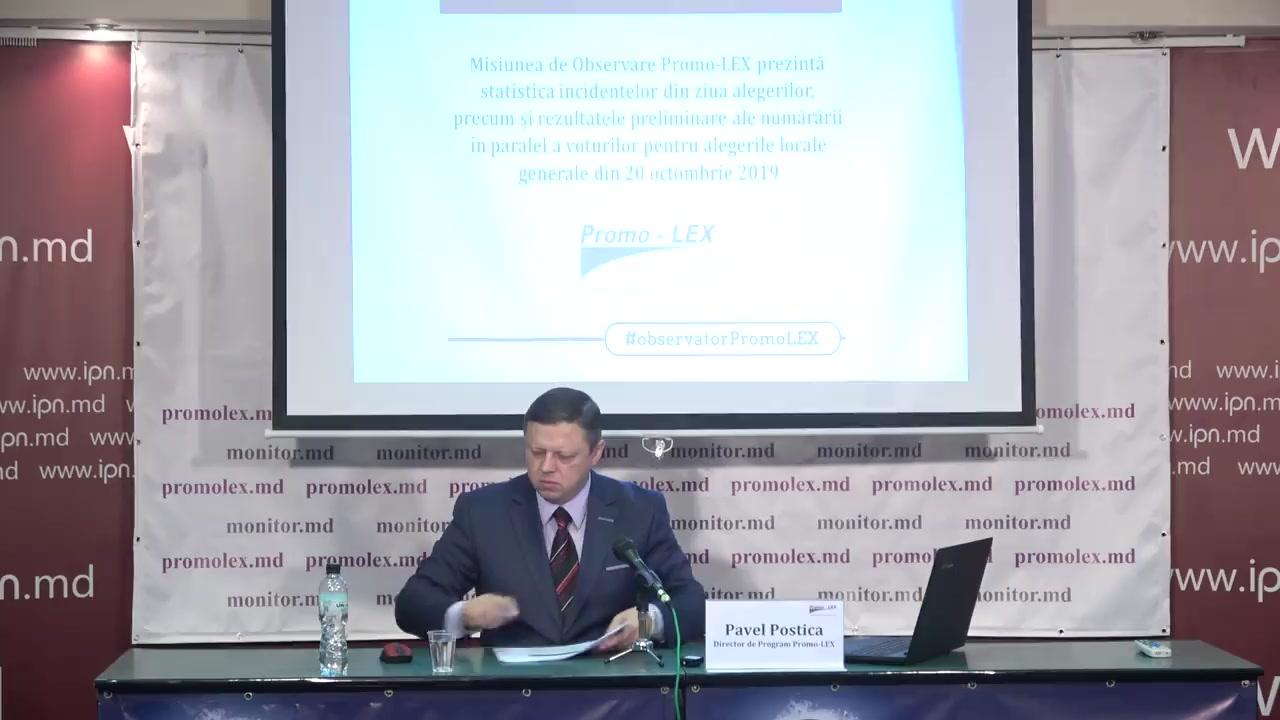 Alegeri 2019: Rezultate preliminare ale numărării în paralel a Misiunii de Observare Promo-LEX a voturilor pentru alegerilor locale generale și parlamentare noi din 20 octombrie 2019