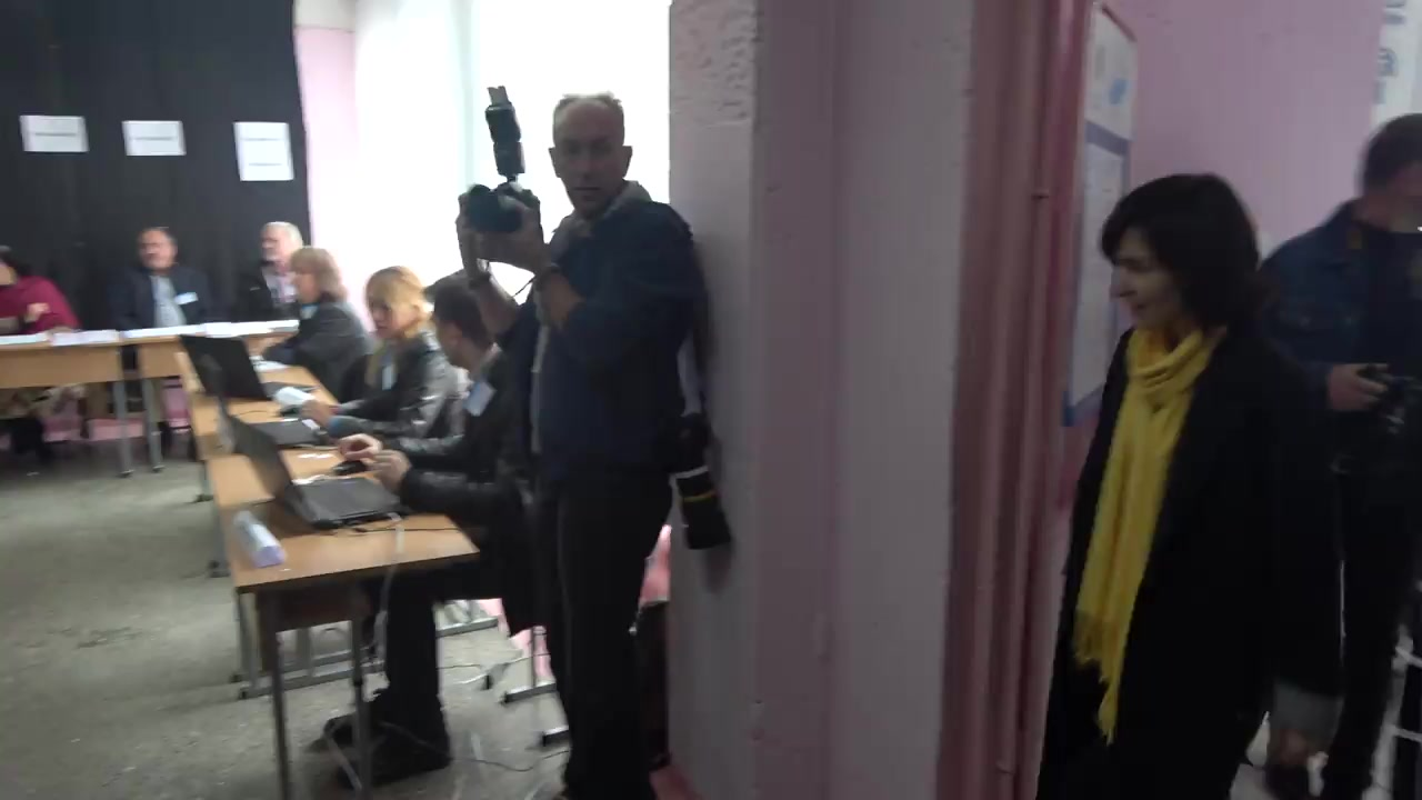 Alegeri 2019: Exprimarea votului de către Prim-ministrul Republicii Moldova, Maia Sandu