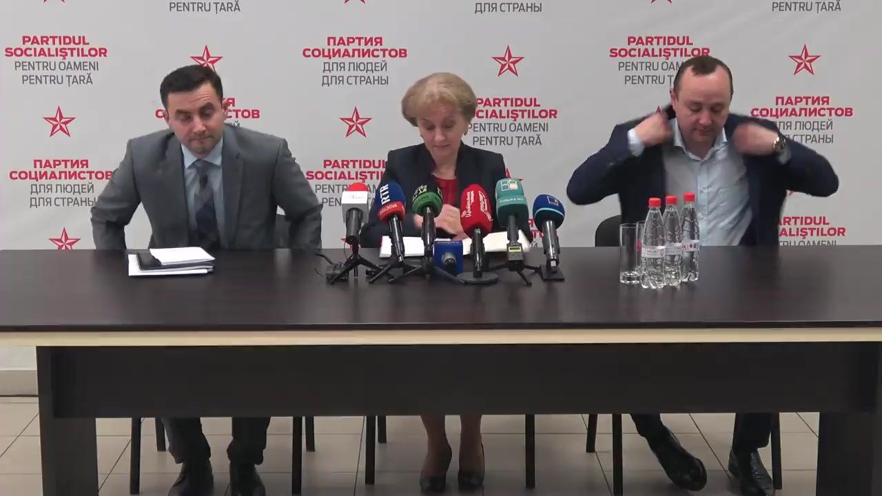 Conferință de presă susținută de președintele Partidului Socialiștilor din Republica Moldova, Zinaida Greceanîi