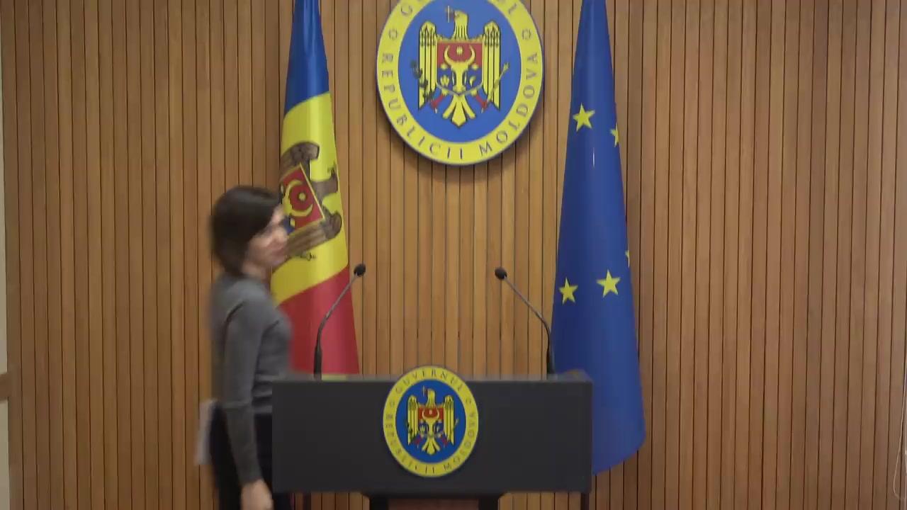 Declarațiile Prim-ministrului Republicii Moldova, Maia Sandu, după ședința Guvernului Republicii Moldova din 23 octombrie 2019
