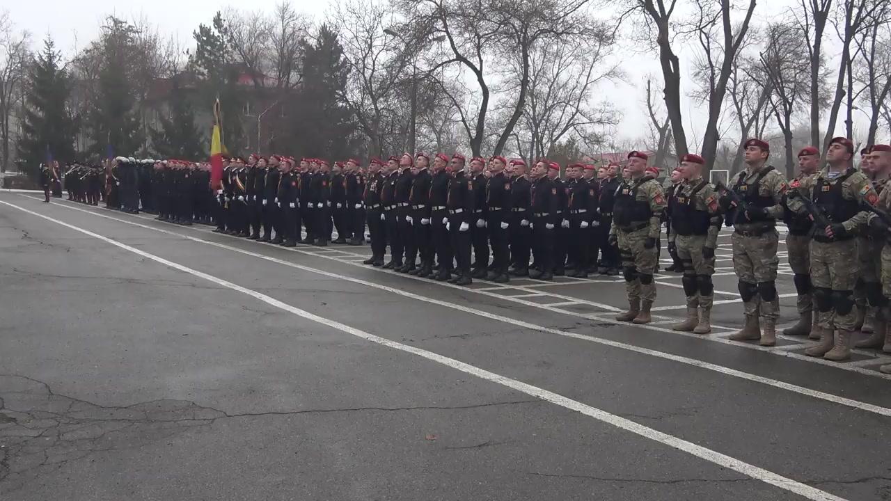 Ceremonia militară dedicată aniversării a XXVIII-a de la formarea Trupelor de Carabinieri ale Ministerului Afacerilor Interne