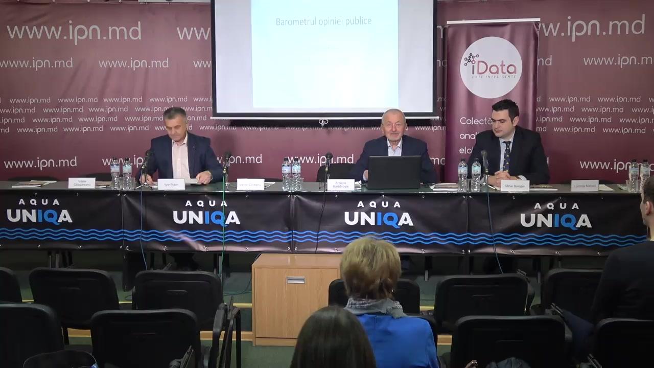 """Prezentarea publică a rezultatelor sondajului """"Barometrul Opiniei Publice, decembrie 2019"""""""