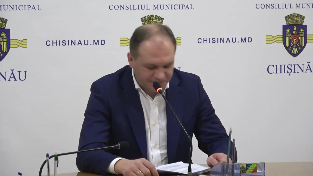 Conferință de presă susținută de Primarul general al municipiului Chișinău, Ion Ceban, privind activitatea administrației publice locale Chișinău de la preluarea mandatului și perspectivele pentru anul viitor