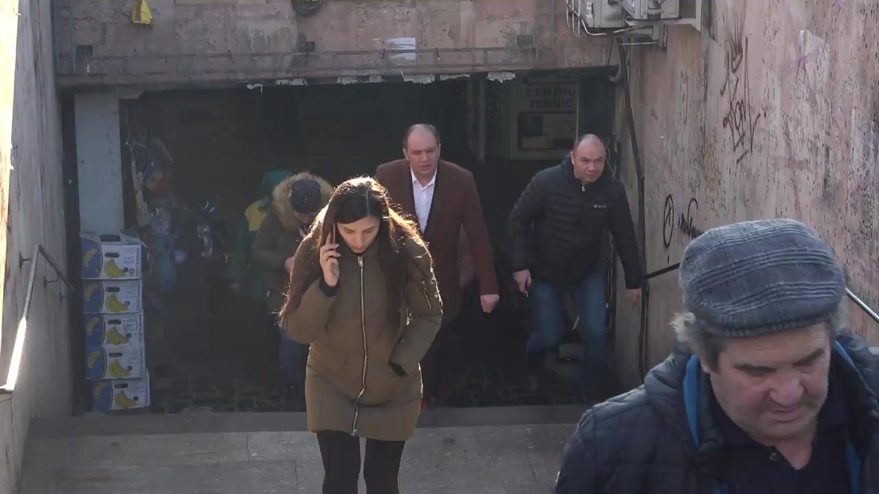 Primarul general al municipiul Chișinău, Ion Ceban, inspectează pasajul subteran de la intersecția str. Ismail și bd. Ștefan cel Mare și Sfânt