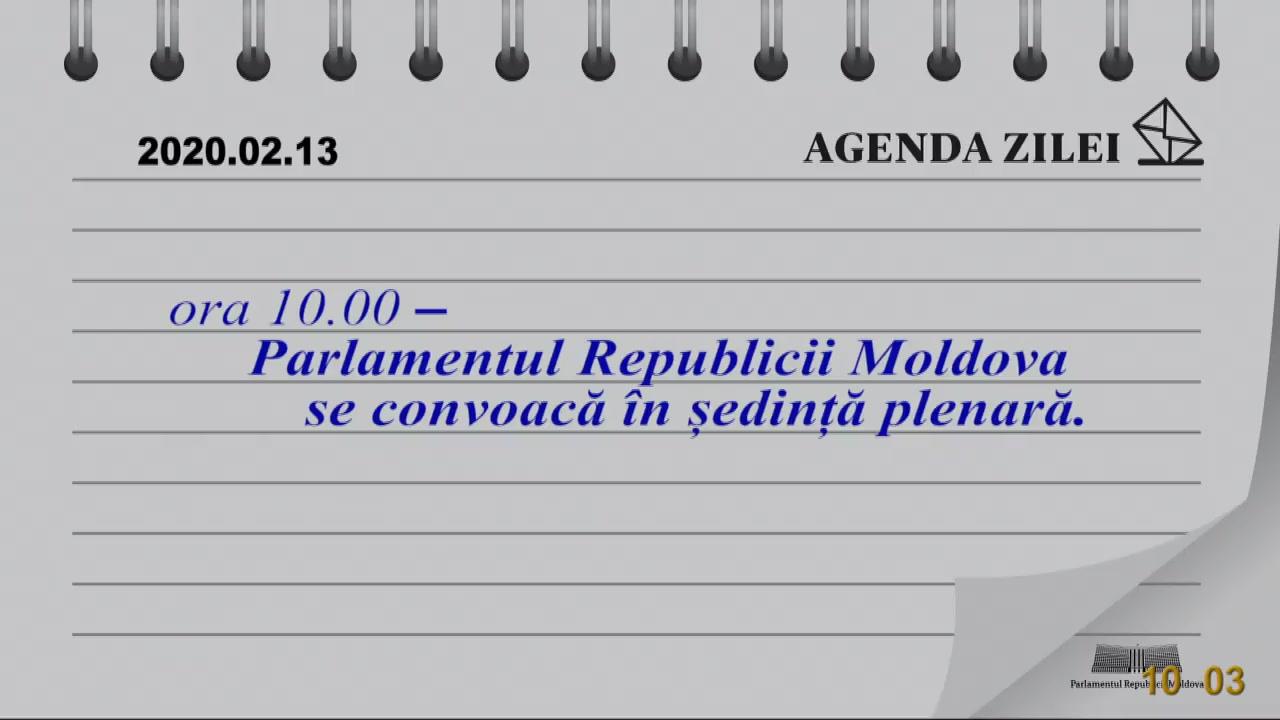 Ședința Parlamentului Republicii Moldova din 13 februarie 2020