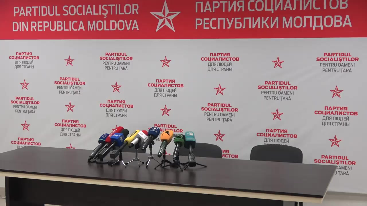Briefing organizat de Partidul Socialiștilor din Republica Moldova