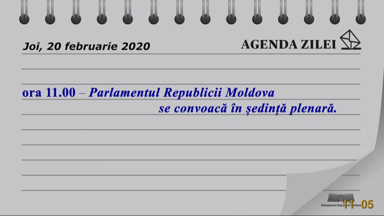Ședința Parlamentului Republicii Moldova din 20 februarie 2020