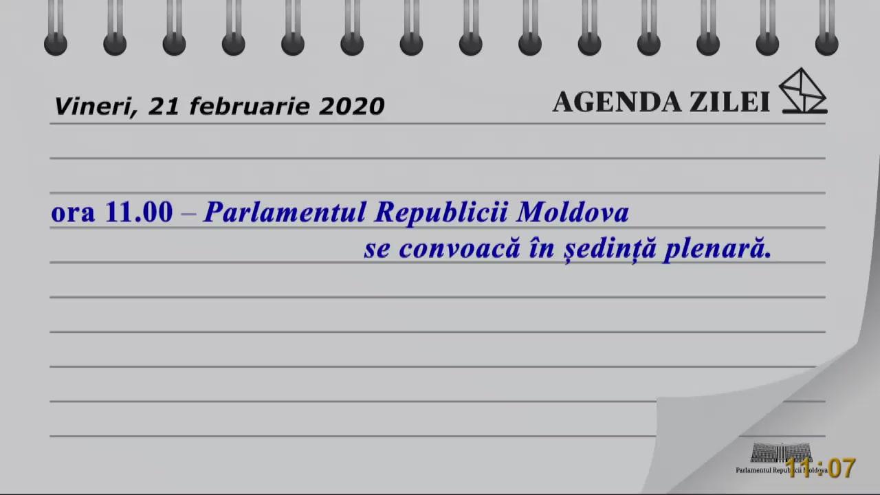 Ședința Parlamentului Republicii Moldova din 21 februarie 2020