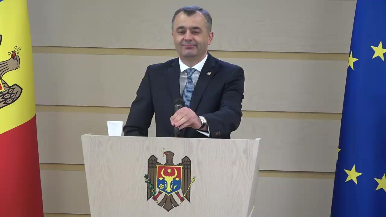 Declarațiile Prim-ministrului Republicii Moldova, Ion Chicu, în timpul ședinței Parlamentului Republicii Moldova din 21 februarie 2020