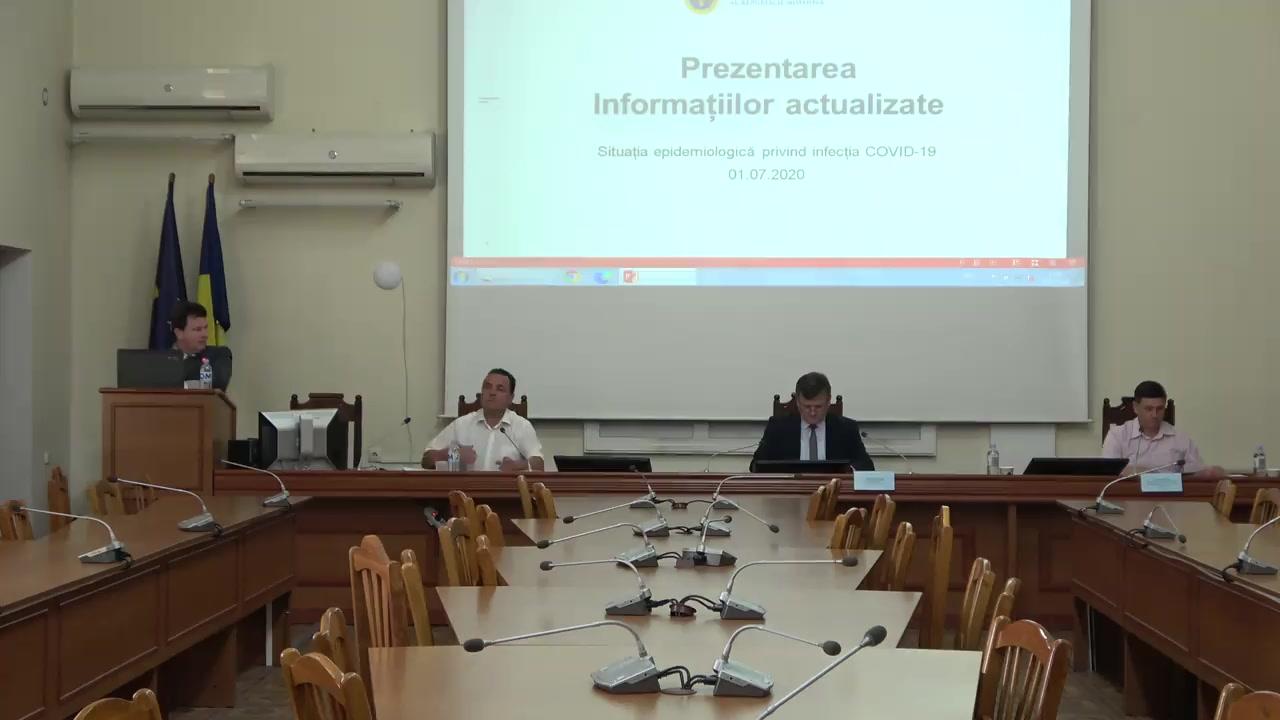 Prezentarea informațiilor actualizate a situației epidemiologice privind infecția COVID-19