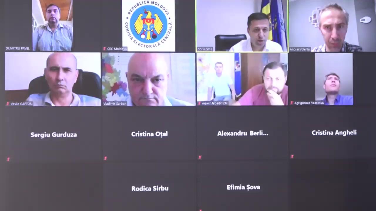 Ședința Comisiei Electorale Centrale din 30 iulie 2020