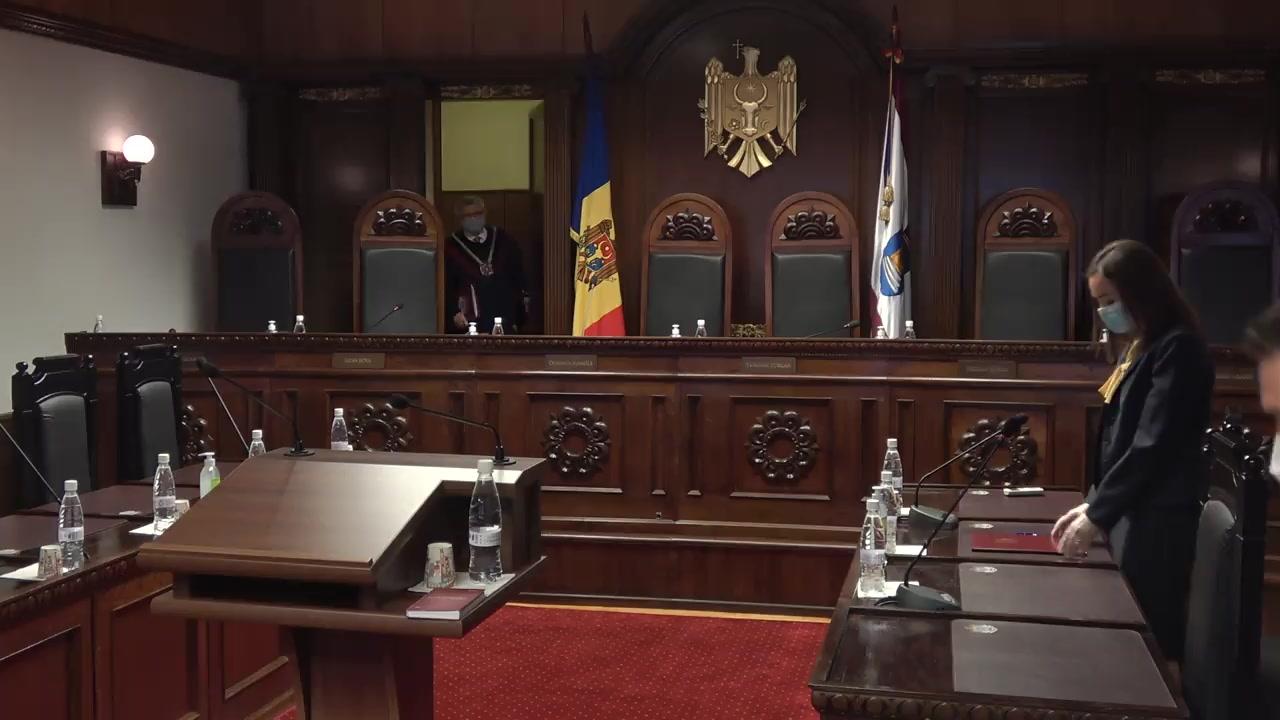 Ședința Curții Constituționale de examinare a sesizării nr. 25g/2020 privind excepția de neconstituționalitate a articolului 84 alin. (2) din Legea insolvabilității nr. 149 din 29.06.2012