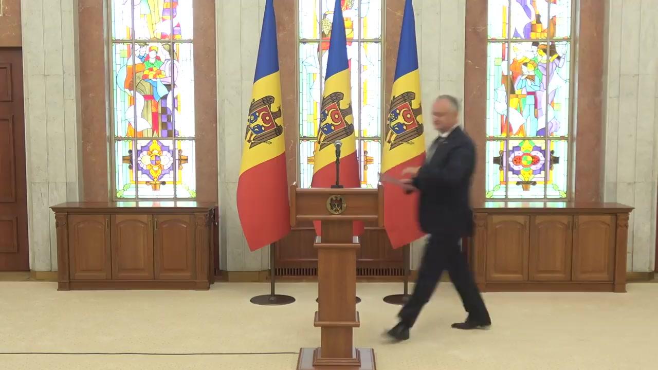 Declarații de presă susținute de Președintele Republicii Moldova, Igor Dodon, după ședința Consiliului Suprem de Securitate din 12 august 2020