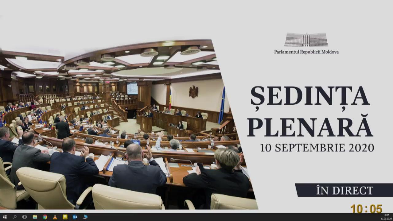 Ședința Parlamentului Republicii Moldova din 10 septembrie 2020