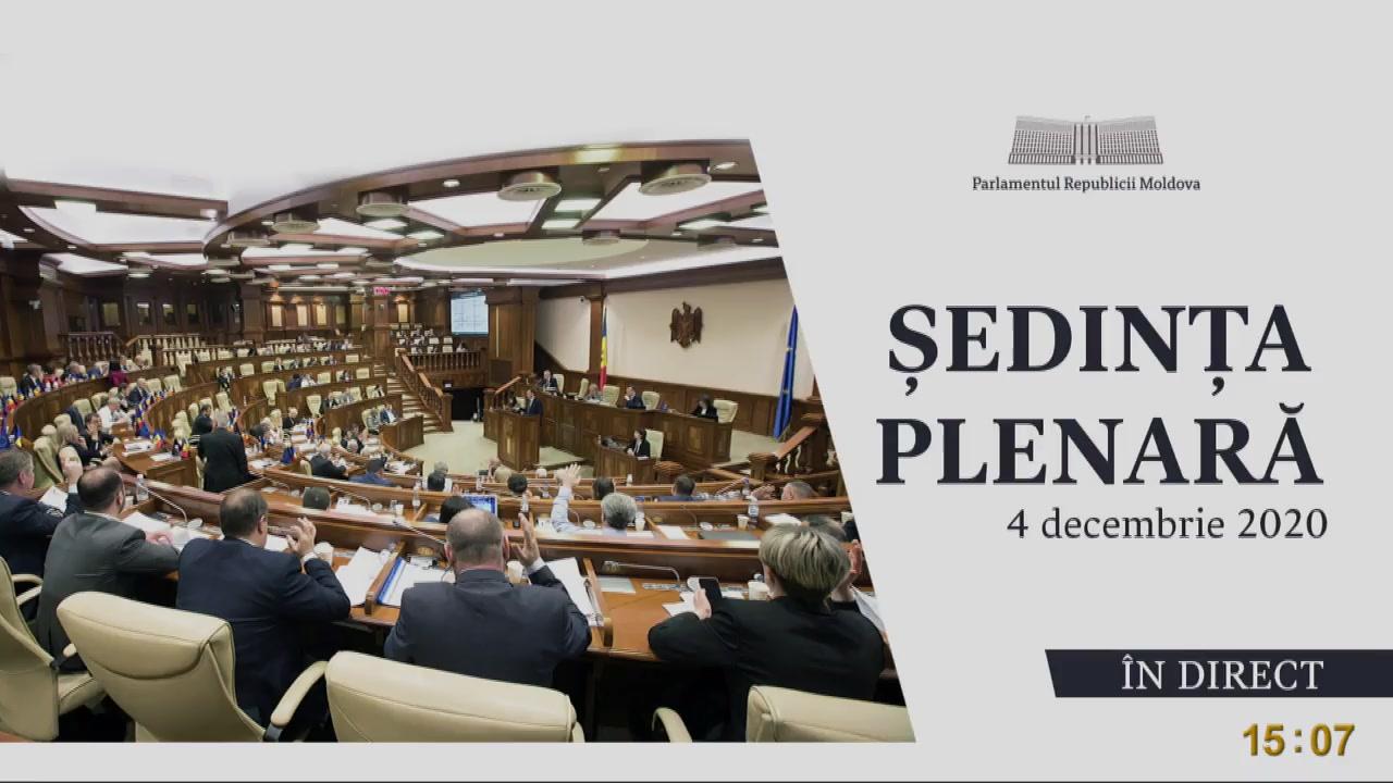 Ședința Parlamentului Republicii Moldova din 4 decembrie 2020
