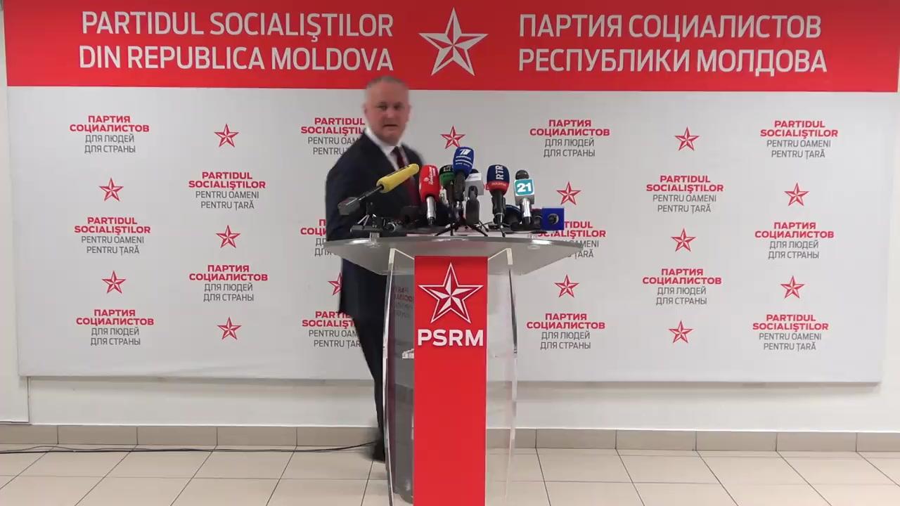 Declarații de presă susținute de Președintele PSRM, Igor Dodon, după ședința Executivului Politic al PSRM
