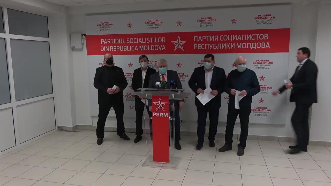 Briefing de presă susținut de către deputații PSRM